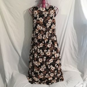 Womens Brown and Black Floral Dress